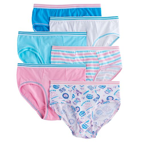 99e1c08db8b20 Girls 4-16 Hanes 6-pk. CoolDRI Comfort Briefs