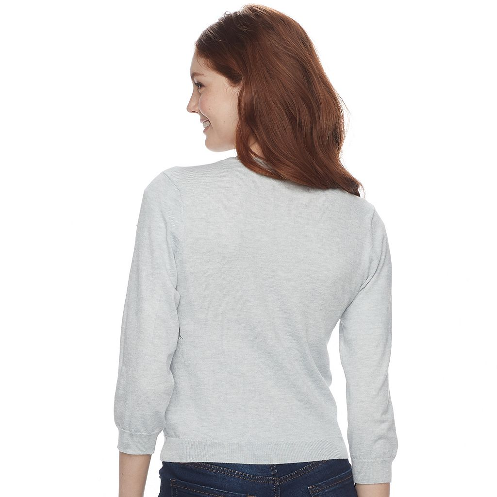 Juniors' Cloud Chaser Cropped Cardigan Sweater