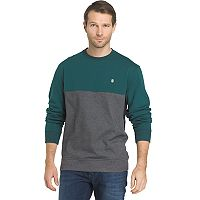 Big & Tall IZOD Advantage Sportflex Regular-Fit Colorblock Performance Fleece Pullover