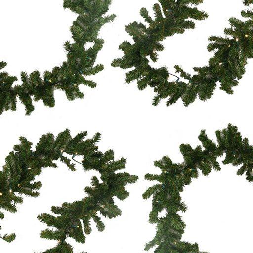 9-ft. Pre-Lit Pine Artificial Christmas Garland