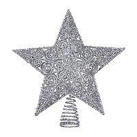 Kurt Adler Glitter Star Christmas Tree Topper