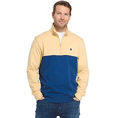Big & Tall IZOD Advantage Sportflex Colorblock Quarter-Zip Fleece Pullover