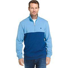 Big & Tall IZOD Advantage Sportflex Colorblock Quarter-Zip Fleece Pullover