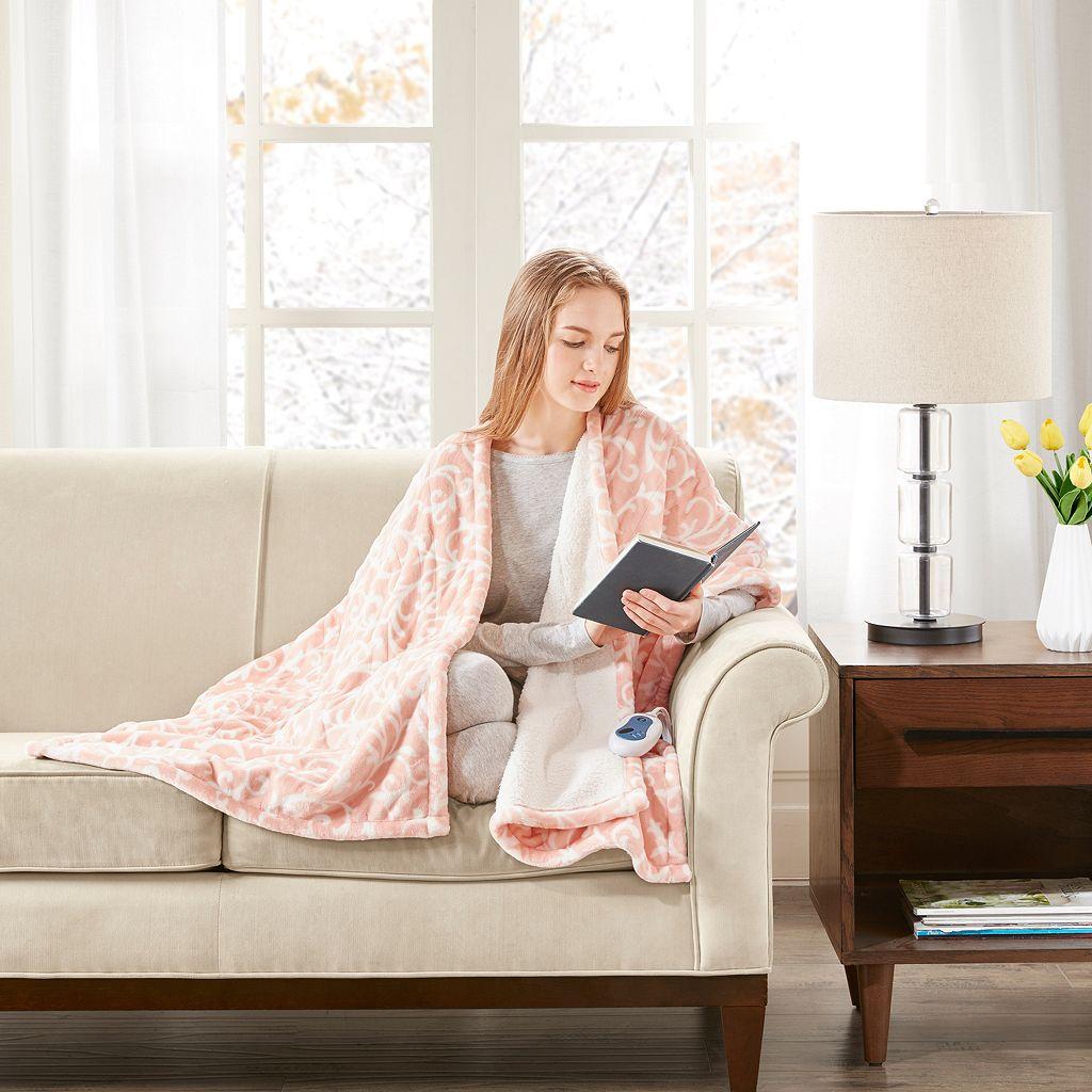 Beautyrest Adelynn Heated Snuggle Wrap Throw