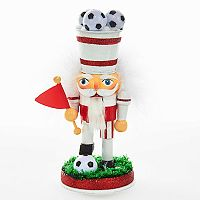 Kurt Adler Hollywood Nutcrackers Soccer Christmas Table Decor