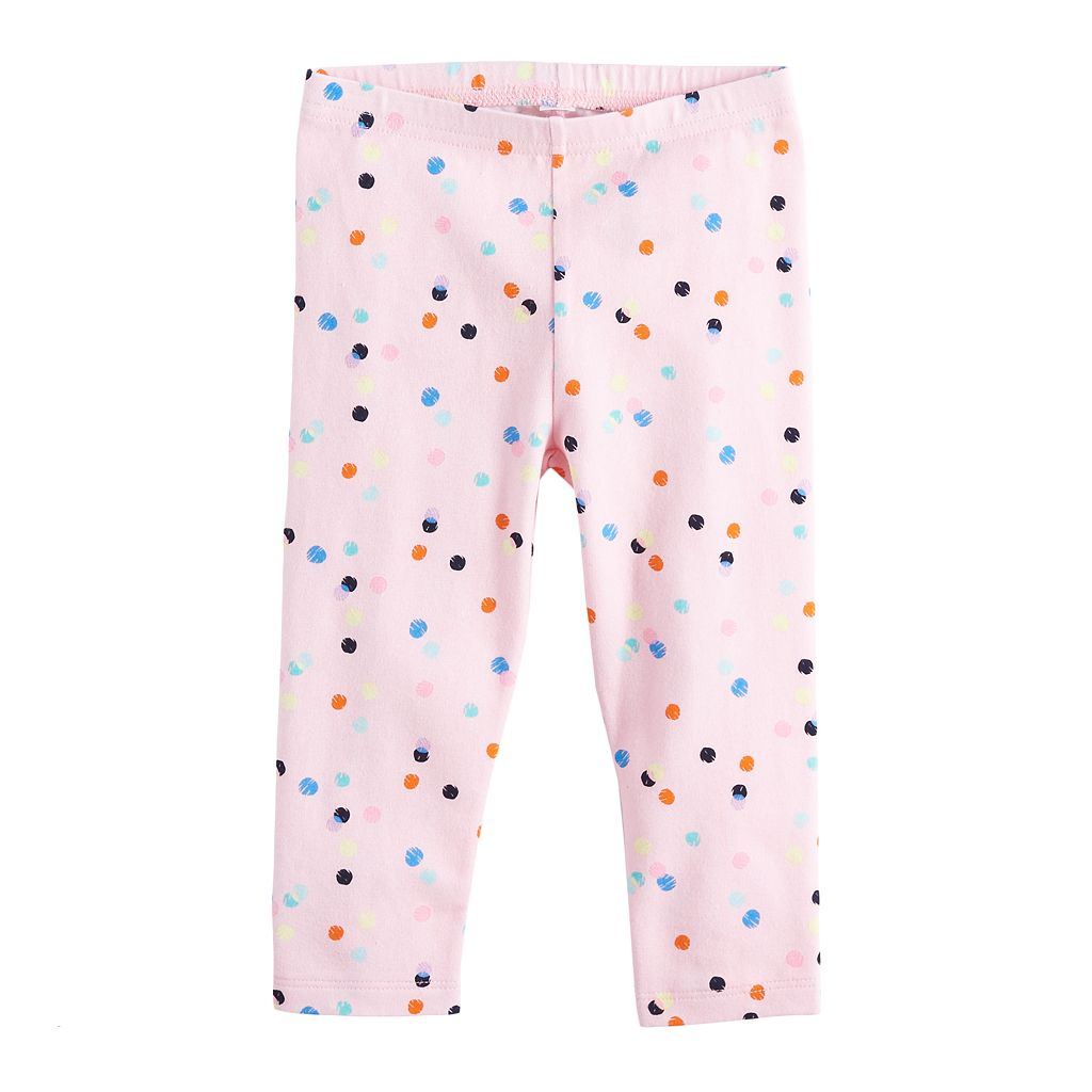 Baby Girl Jumping Beans® Heart Graphic Leggings