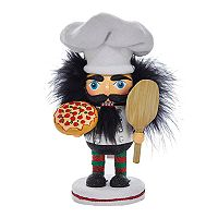 Kurt Adler Hollywood Nutcrackers Pizza Man Christmas Table Decor