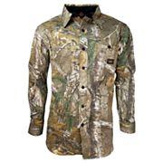 Men's Walls Hunting Cape Back Long Sleeve Shirt