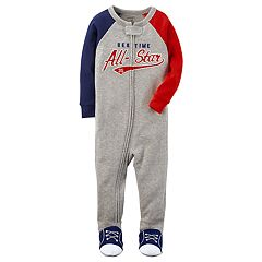Baby Boy Carter's 'Bed Time All-Star' One-Piece Footed Pajamas