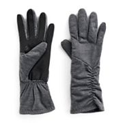 Women's UR Powered Asymmetric Ruched Stretch Tech Gloves