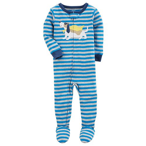 d62dfd6a1abe Baby Boy Carter s Super Dog Striped One-Piece Footed Pajamas