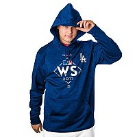 Men's Majestic Los Angeles Dodgers 2017 World Series Participant Hoodie