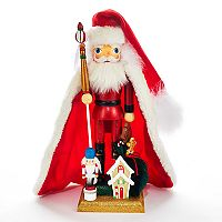 Kurt Adler Hollywood Nutcrackers Santa & Gingerbread Christmas Floor Decor