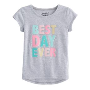 """Toddler Girl Jumping Beans """"Best Day Ever"""" Graphic Tee"""