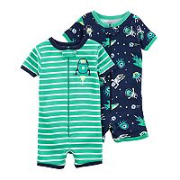 Baby Boy Carter's 2-pack Rocket Ship & Space Rompers