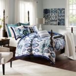 Madison Park Signature Seaglass Ikat Comforter Set