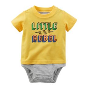 "Baby Boy Carter's ""Little Rebel"" Double-Decker Bodysuit"