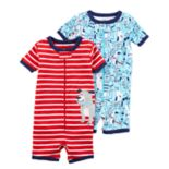 Toddler Boy Carter's 2-pack Dog Rompers