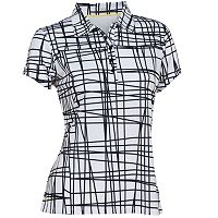 Women's Nancy Lopez Scribble Short Sleeve Golf Polo