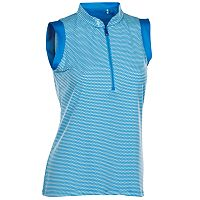 Women's Nancy Lopez Geo Sleeveless Golf Polo