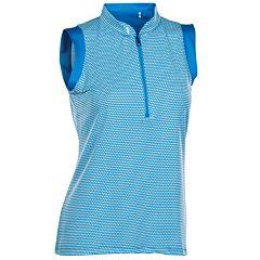 Women's Nancy Lopez Geo Sleeveless Golf Polo