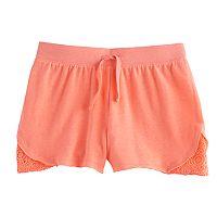 Girls 7-16 SO® Crochet Trim Shorts