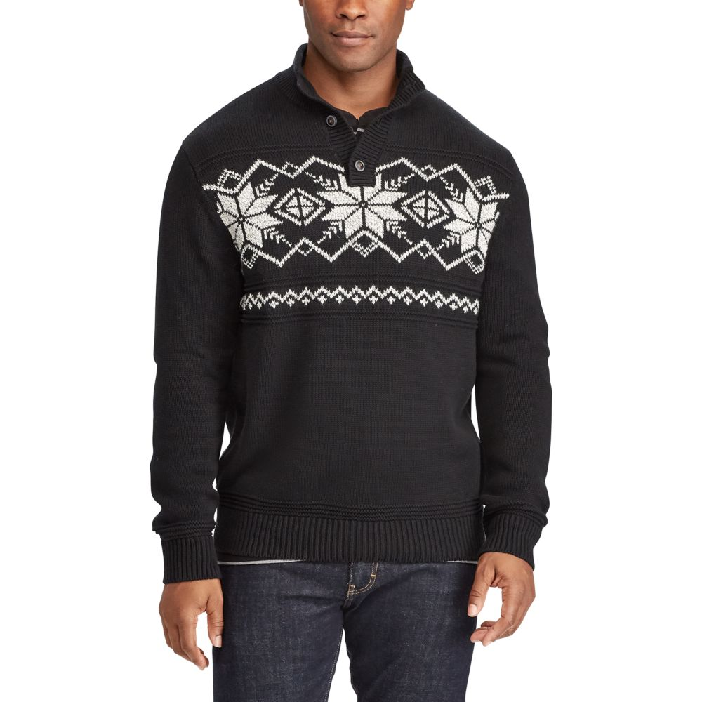 & Tall Chaps Classic-Fit Fairisle Mockneck Sweater