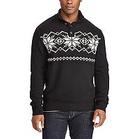 Big & Tall Chaps Classic-Fit Fairisle Mockneck Sweater
