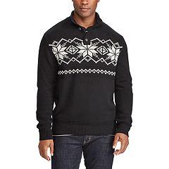 Big & Tall Chaps Classic-Fit Fairisle Mockneck Sweater