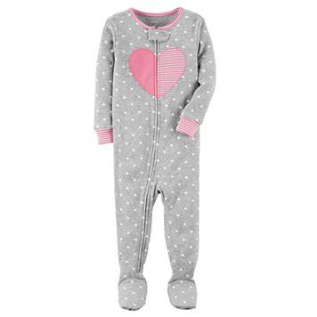 Baby Girl Carter's Heart Dotted Sleep & Play