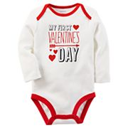 Baby Carter's 'First Valentine's Day' Graphic Bodysuit