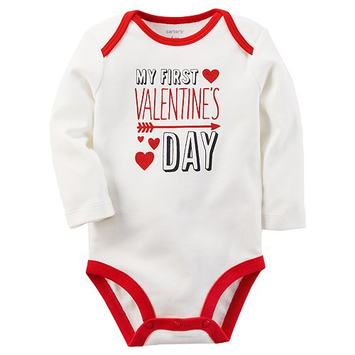 "Baby Carter's ""First Valentine's Day"" Graphic Bodysuit"