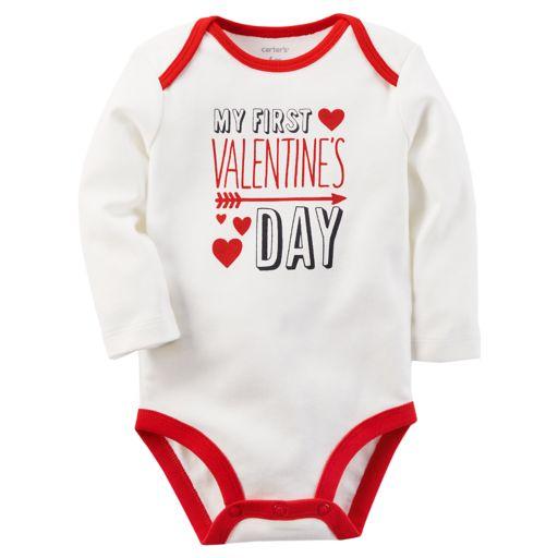"Baby Carter's ""First Valentine's Day"" Graphic Bodysuit"