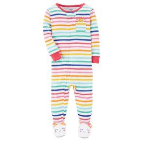 Baby Girl Carter's Sunshine Striped Footed Pajamas