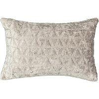 Beautyrest Social Call Faux Velvet Oblong Throw Pillow