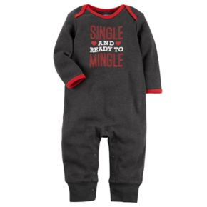 """Baby Carter's """"Single and Ready to Mingle"""" Graphic Coverall"""