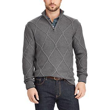 Big & Tall Chaps Classic-Fit Quarter-Zip Sweater