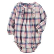 Baby Girl OshKosh B'gosh® Ruffle Plaid Bodysuit