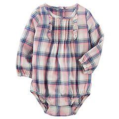 Baby Girl OshKosh B'gosh® Ruffle Plaid Bodysuit