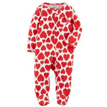 Baby Girl Carter's Heart Print Sleep & Play