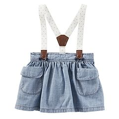 Baby Girl OshKosh B'gosh® Suspender Chambray Skirt