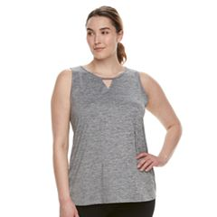 Plus Size Tek Gear® Performance Notch Neck Tank