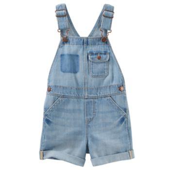 Baby Girl OshKosh B'gosh® Sky Wash Shortalls