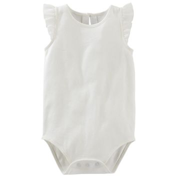 Baby Girl OshKosh B'gosh® Flutter Sleeve Bodysuit