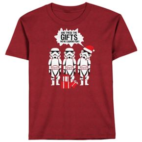 Boys 8-20 Star Wars Storm Troops Holiday Tee