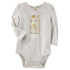 Baby Girl OshKosh B'gosh® 'Love Makes the World Go Round' Foil Bodysuit