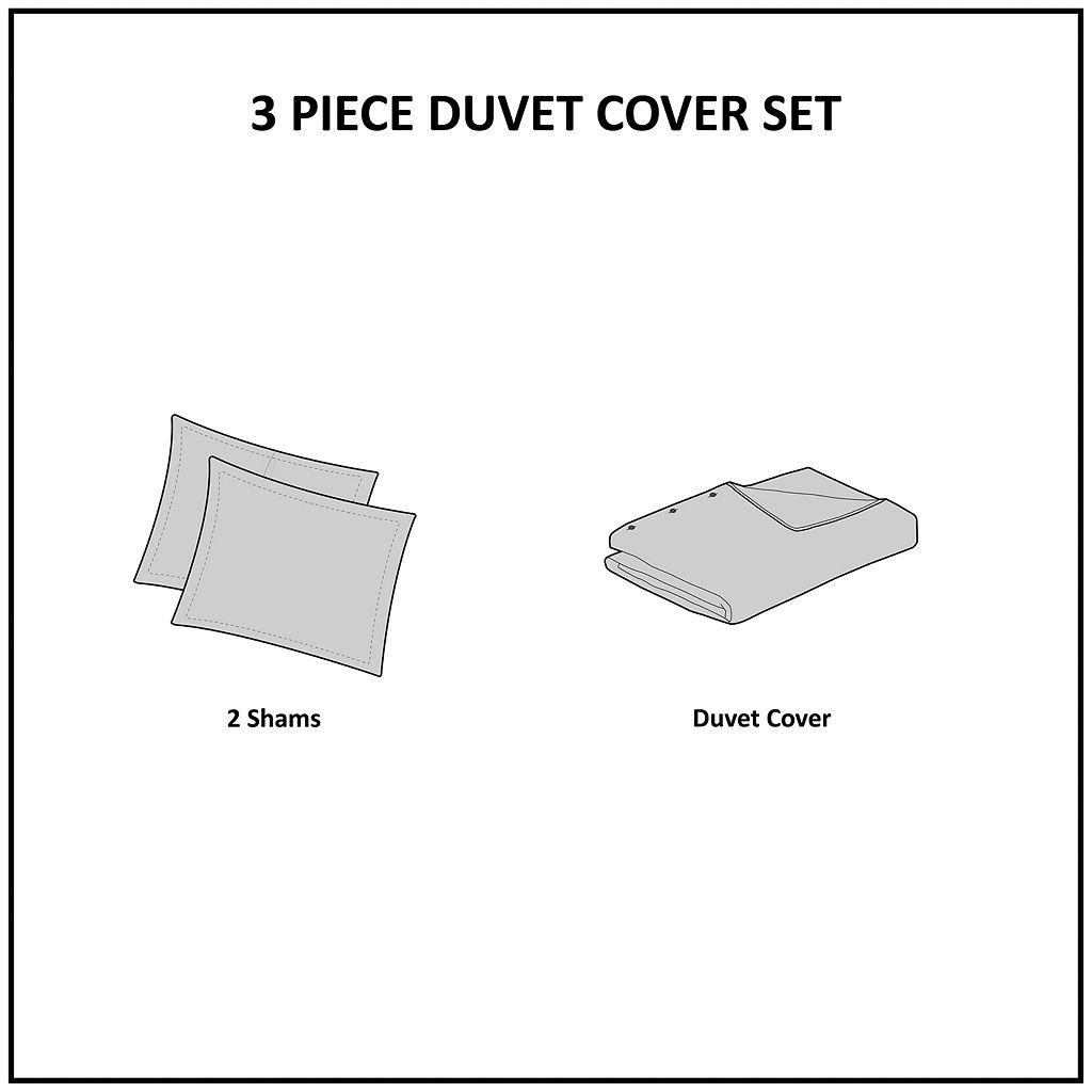 Madison Park Essentials Hayden Reversible Stripe Duvet Cover Set
