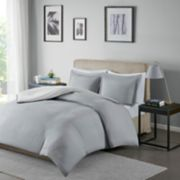 Madison Park Essentials Hayden Reversible Stripe Duvet Cover Set