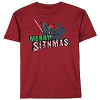 Boys 8-20 Star Wars Darth Vader Holiday Tee