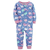 Baby Girl Carter's Whale Print Footless One-Piece Pajamas